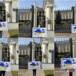 У Європейських столицях під посольствами РФ пройшли акції за звільнення Владислава Єсипенка
